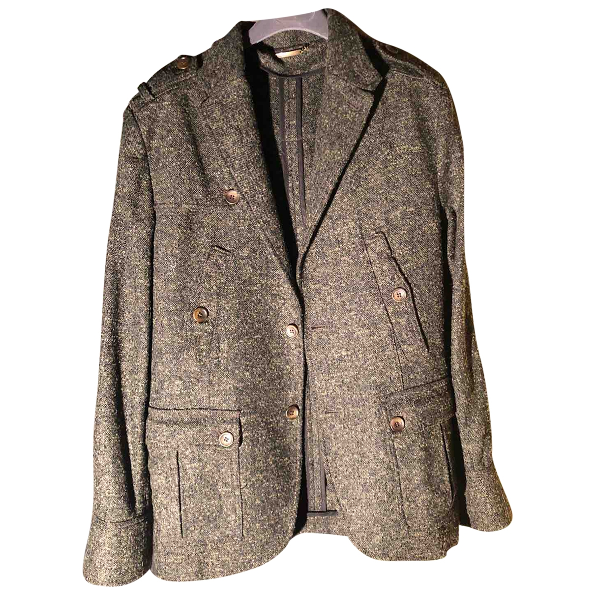 D&g \N Anthracite Wool coat  for Men 52 IT