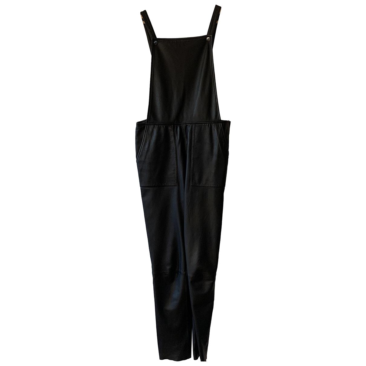 Designers Remix - Combinaison   pour femme en cuir - noir