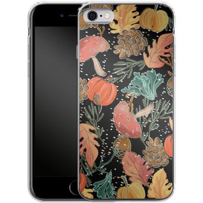Apple iPhone 6 Silikon Handyhuelle - Fall Woodland Black von Mukta Lata Barua