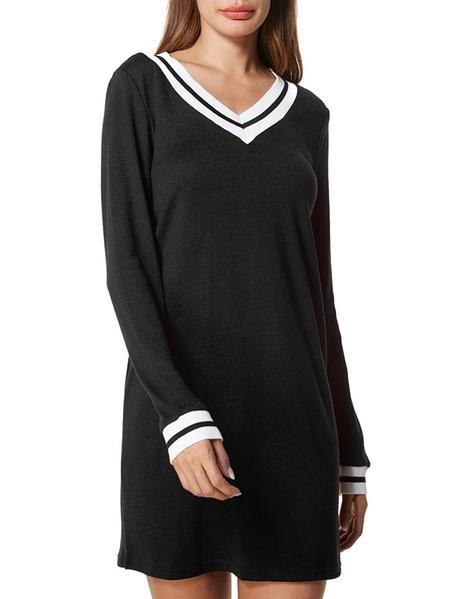 Yoins Dorimis V-neck Long Sleeves Dress