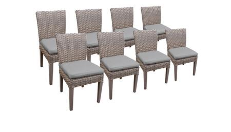 Monterey Collection MONTEREY-TKC290b-ADC-4x-C-GREY 8 Side Chairs - Beige and Grey