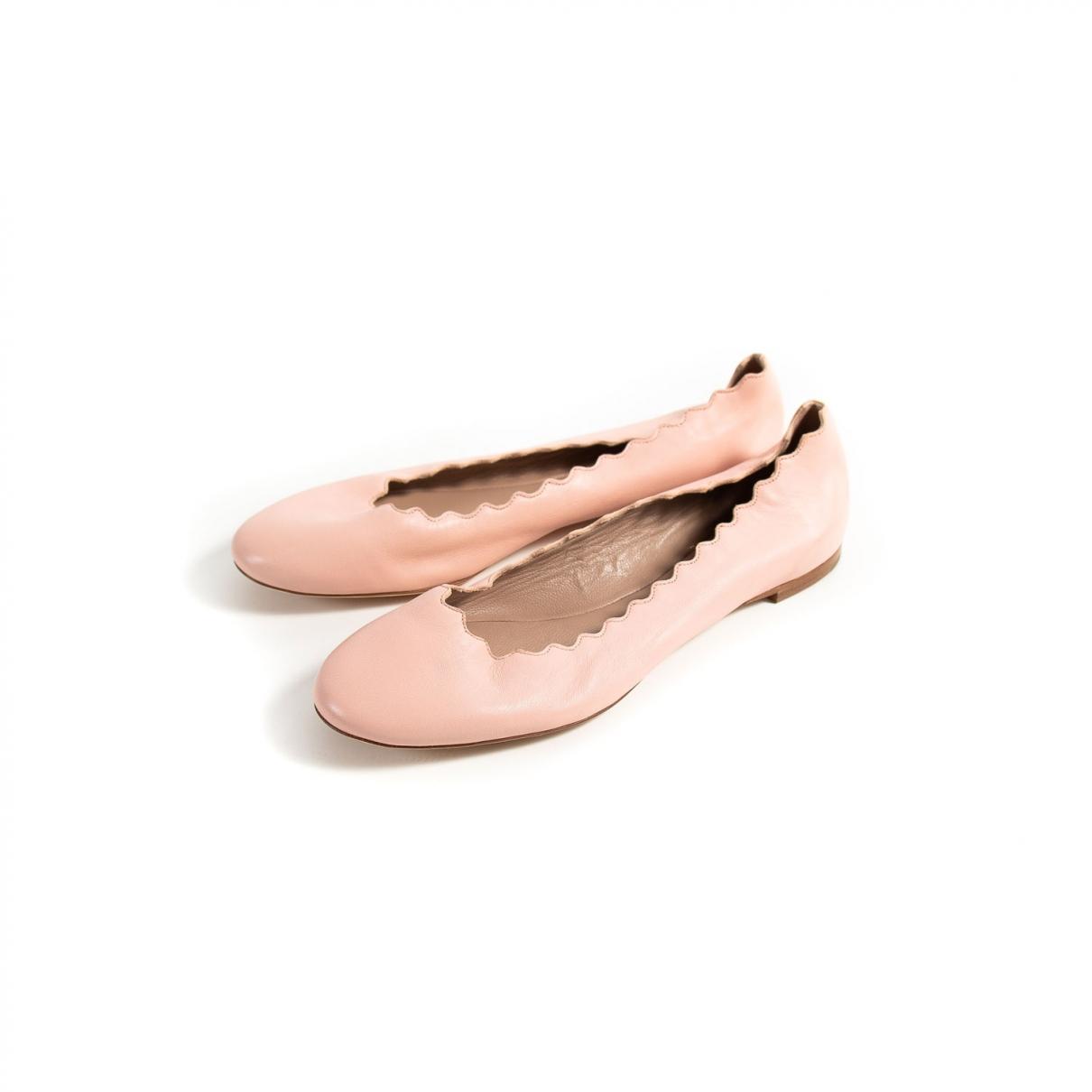 Chloe - Ballerines Lauren pour femme en cuir - rose