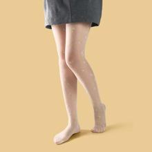 Strumpfhose mit Bluemchen Muster