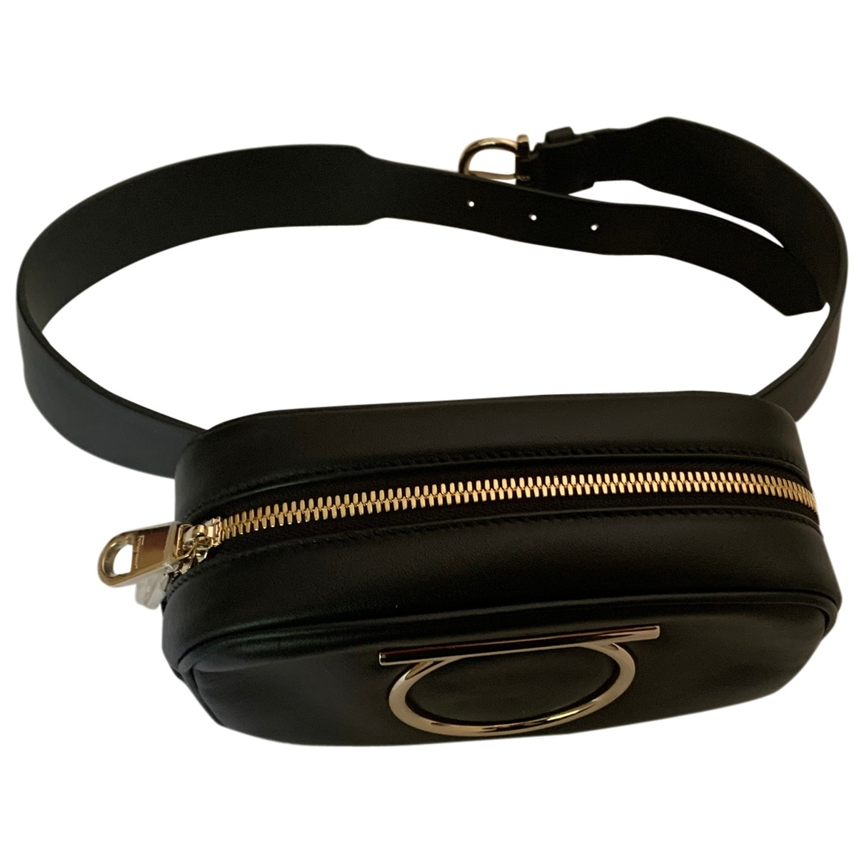 Salvatore Ferragamo \N Clutch in  Schwarz Leder