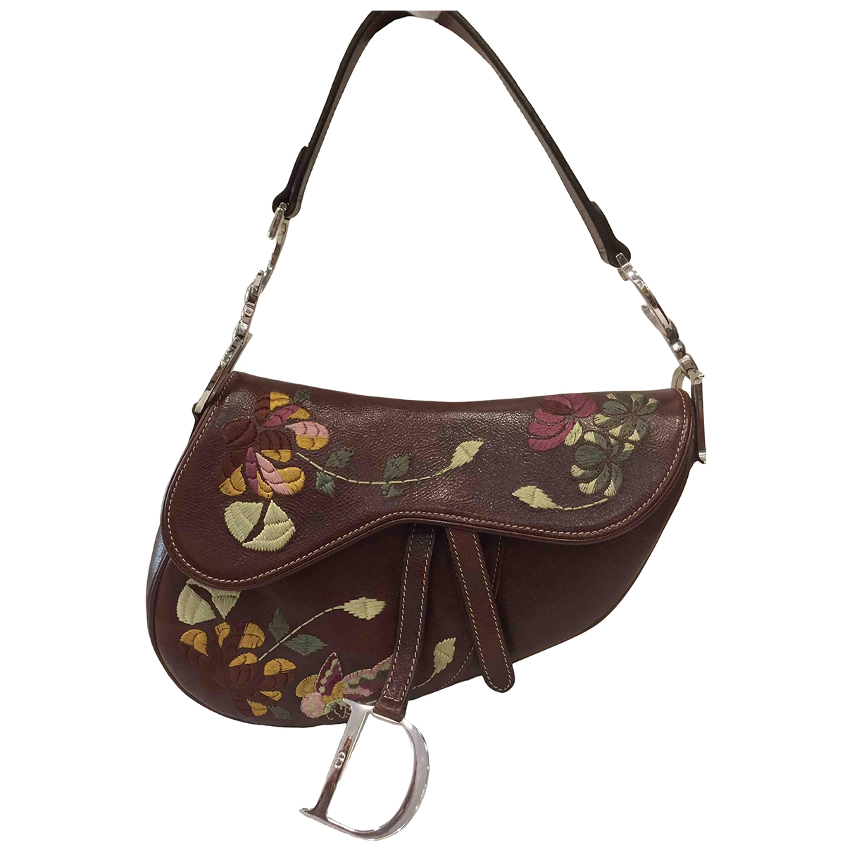 Dior Saddle Brown Leather handbag for Women N
