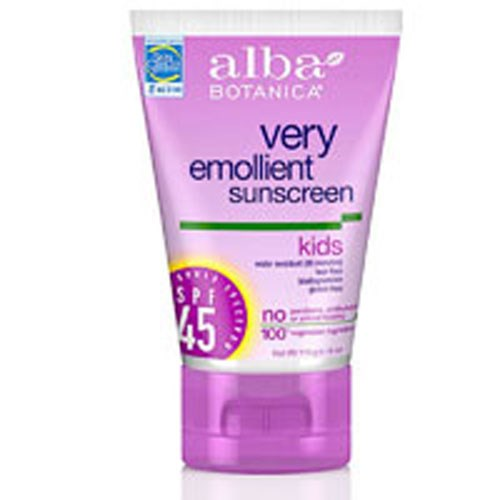 Sunscreen For Kids SPF 45 SPF30+ 4 oz by Alba Botanica