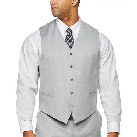 JF J.Ferrar Light Gray Suit Vest- Big & Tall, 4x-large , Gray