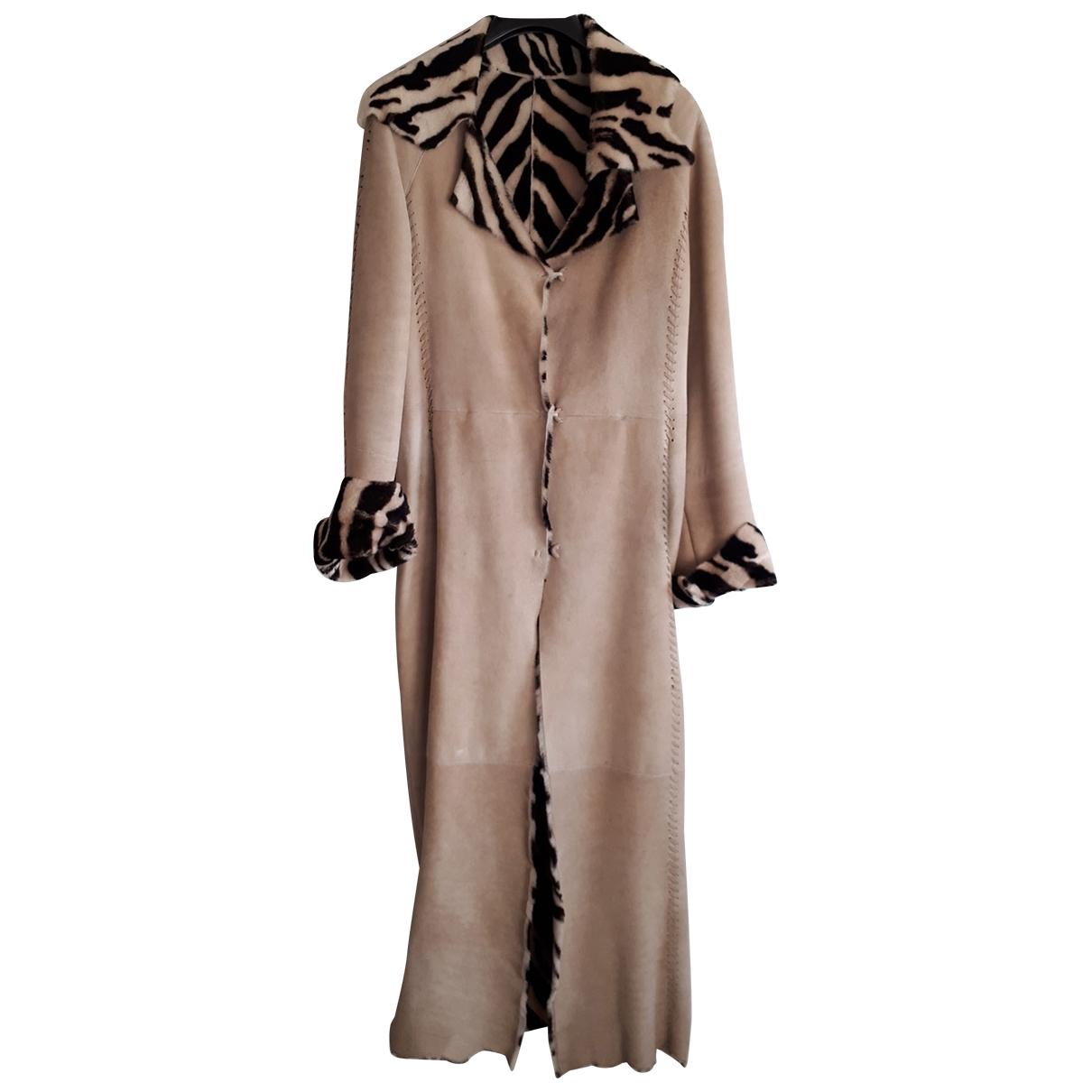 Ermanno Scervino - Manteau   pour femme en mouton - beige