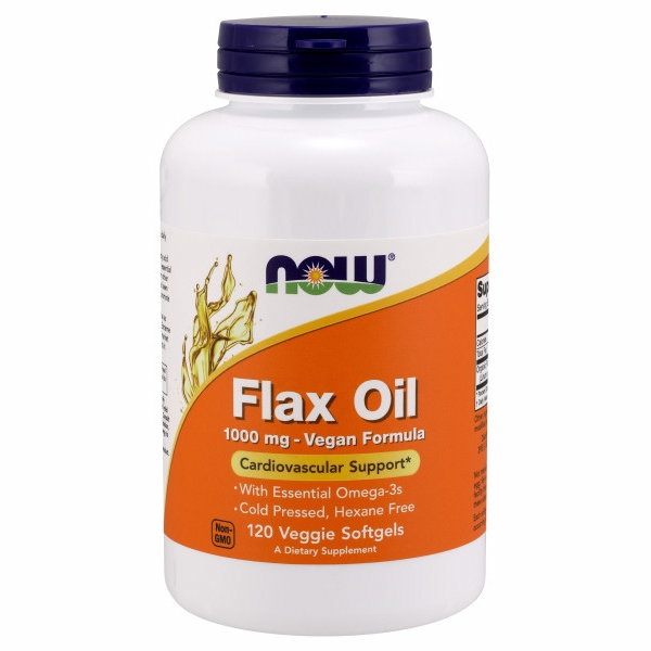 Flax Oil 120 Veg Softgels by Now Foods