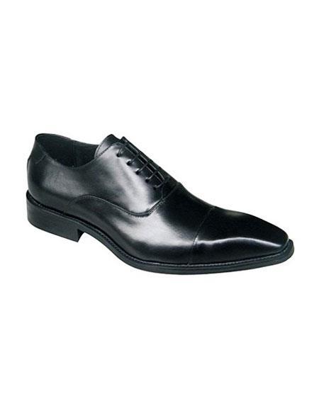 Zota Black Lace Up Classic Oxford Leather Shoe