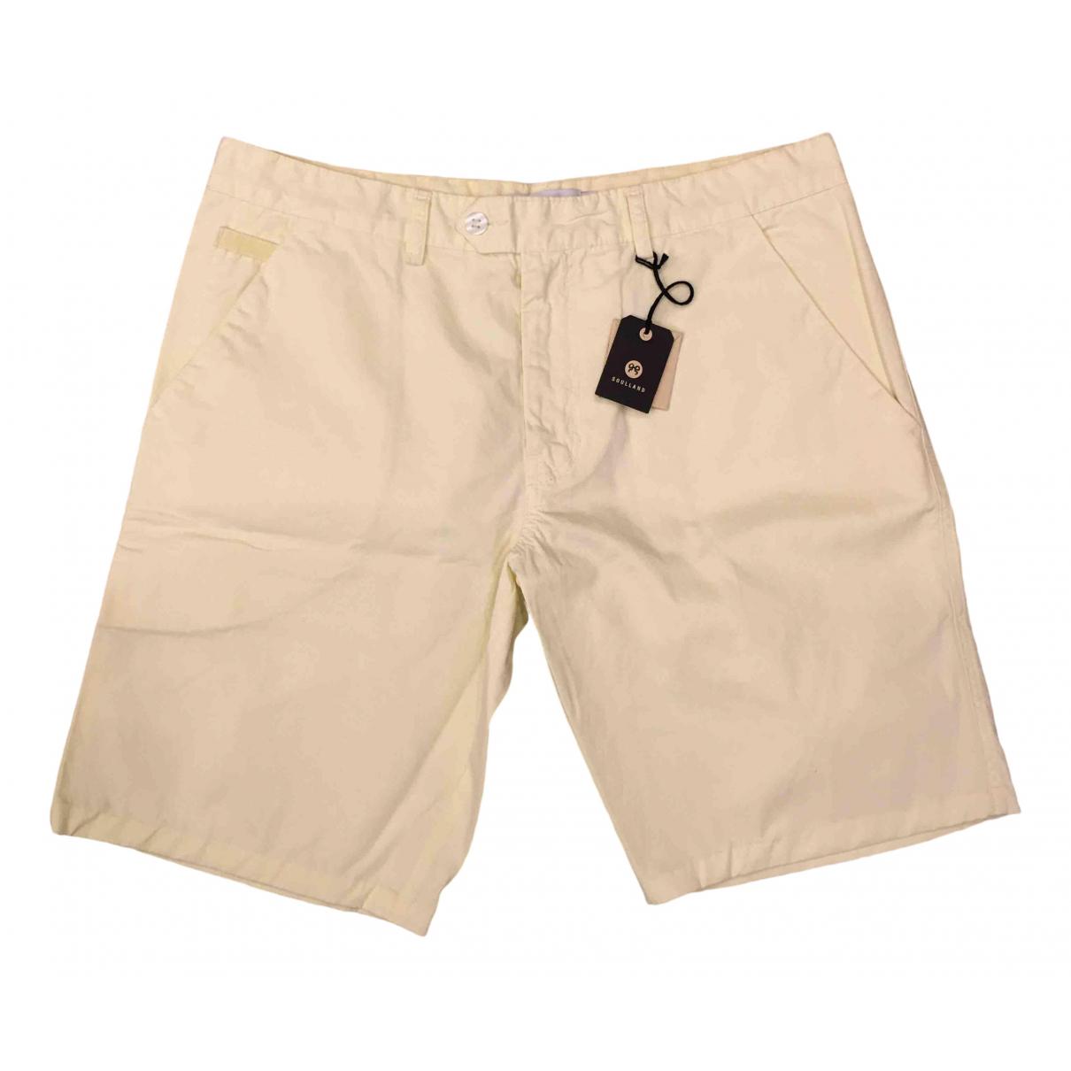 Soulland \N Shorts in  Gelb Baumwolle