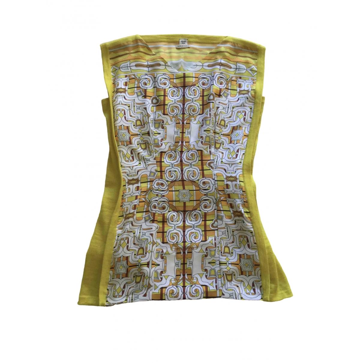 Hermes \N Kleid in  Gelb Seide