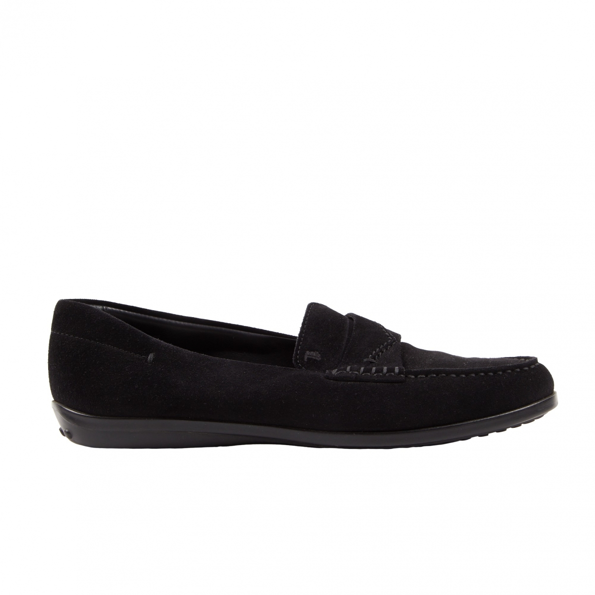 Tod's \N Black Suede Flats for Women \N
