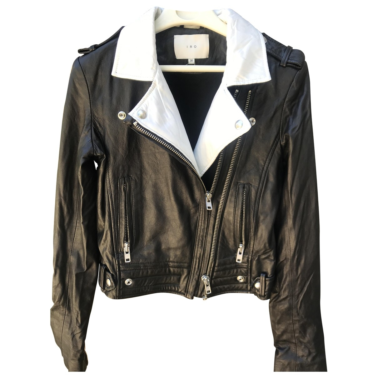 Iro \N Black Leather Leather jacket for Women 36 FR