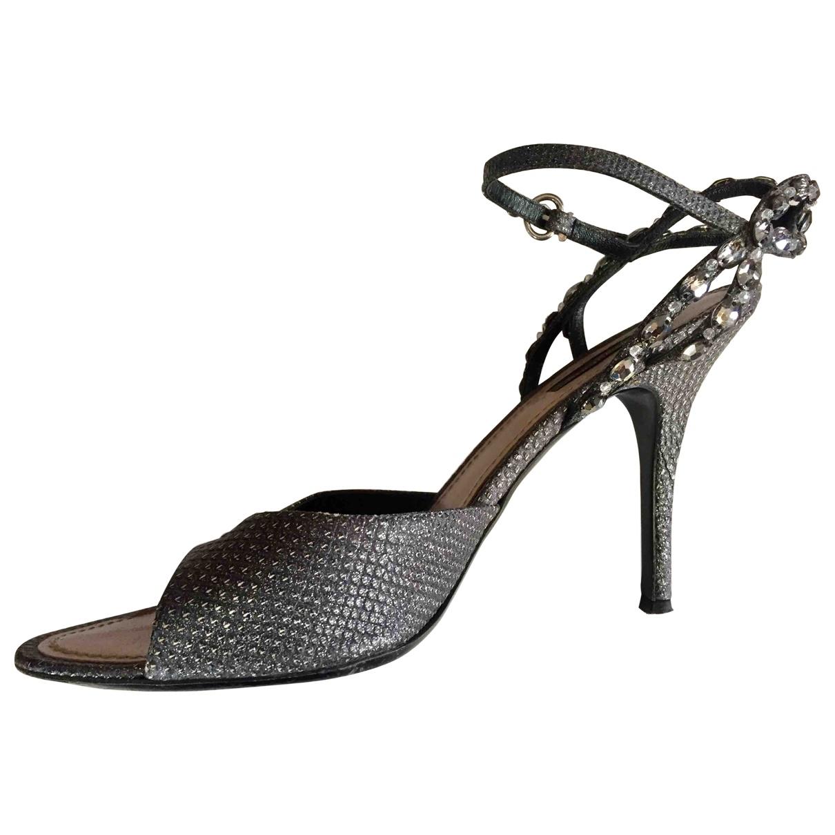 Louis Vuitton - Sandales   pour femme en toile - gris