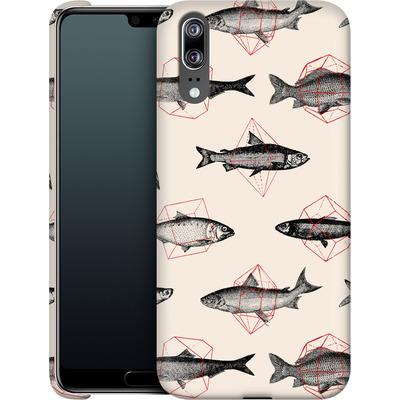 Huawei P20 Smartphone Huelle - Fishes in Geometrics von Florent Bodart