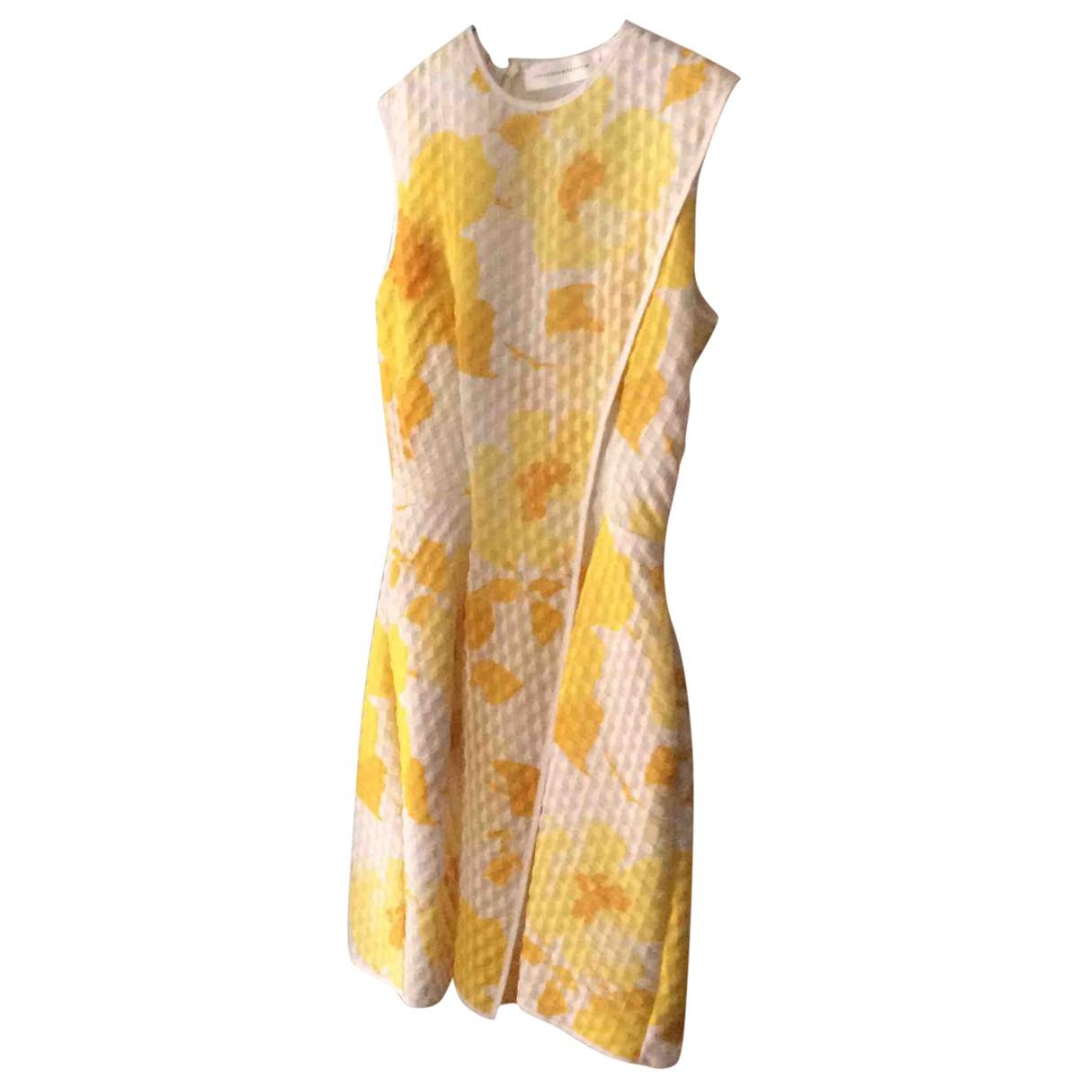 Victoria Beckham \N Kleid in  Gelb Synthetik