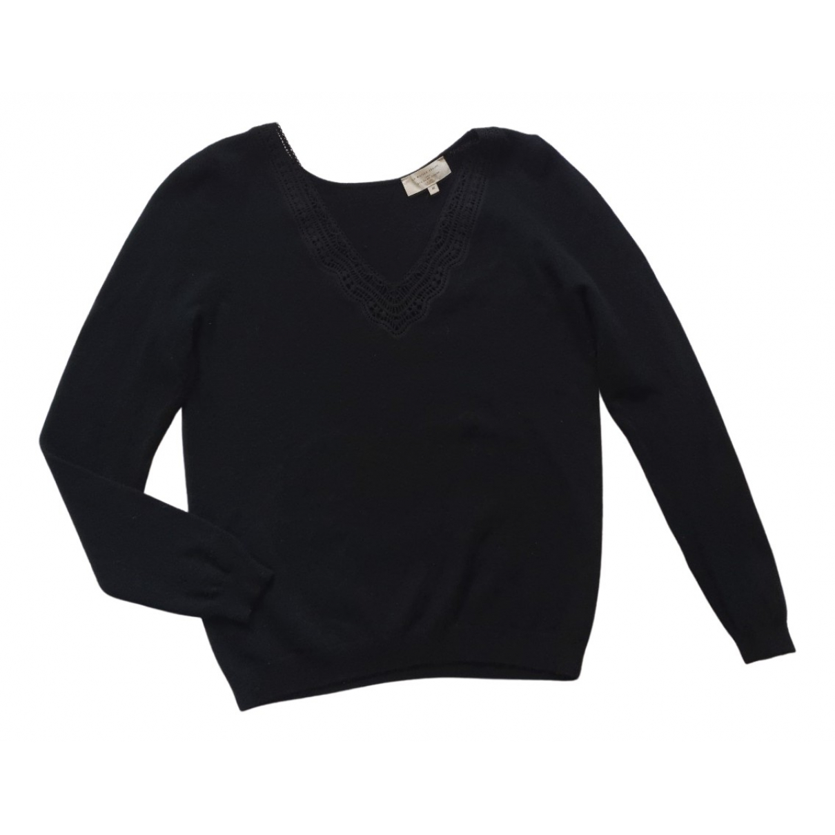 Sezane - Pull Fall Winter 2019 pour femme en laine - noir