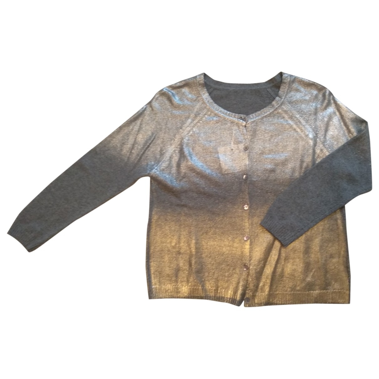 Non Signé / Unsigned Hippie Chic Grey Knitwear for Women 8 UK