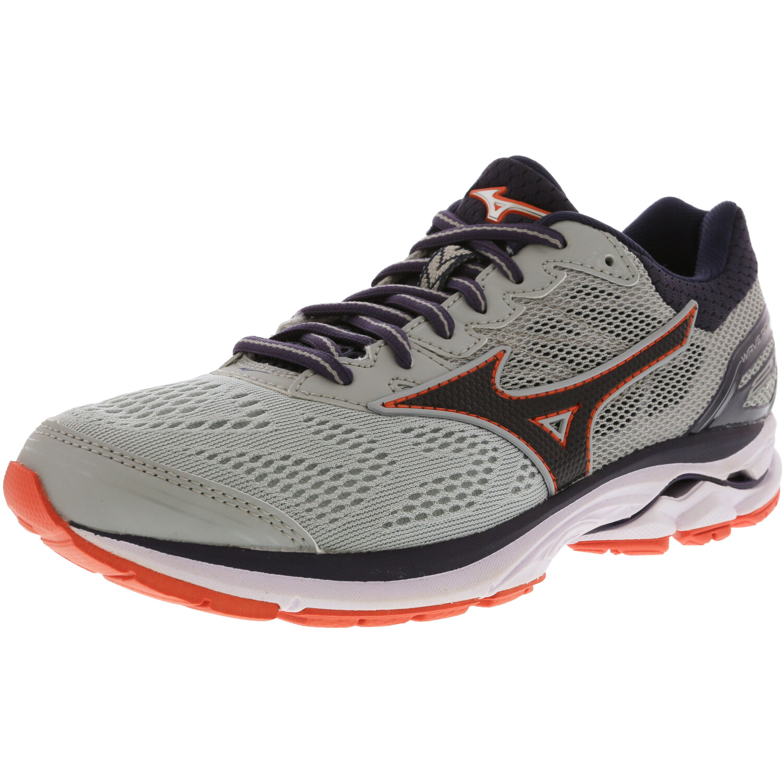 Mizuno Wave Rider 21 Running Shoes for Women - 11.5M - Silver / Black / Pink
