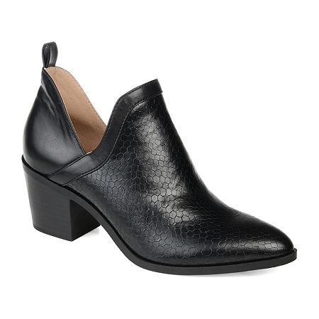 Journee Collection Womens Terri Stacked Heel Booties, 8 Medium, Black