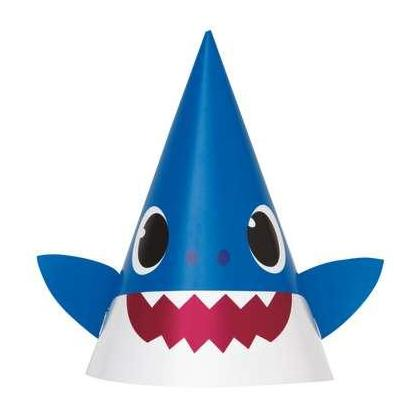 Baby Shark Party Hats, 8pcs