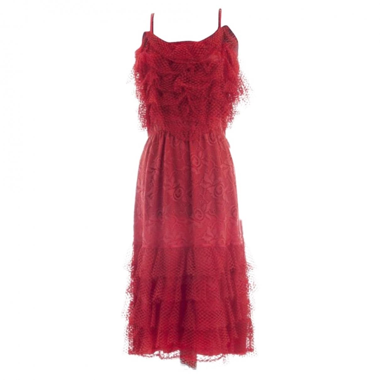 Chloe \N Kleid in  Rot Viskose