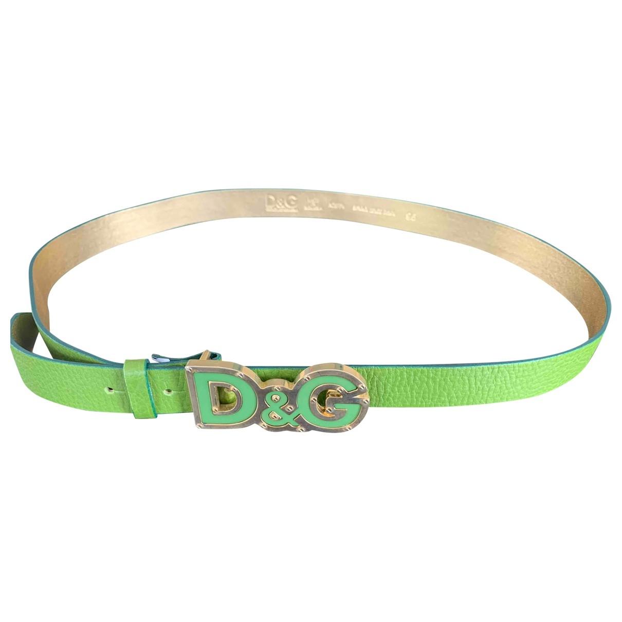 Dolce & Gabbana \N Green Leather belt for Women 95 cm