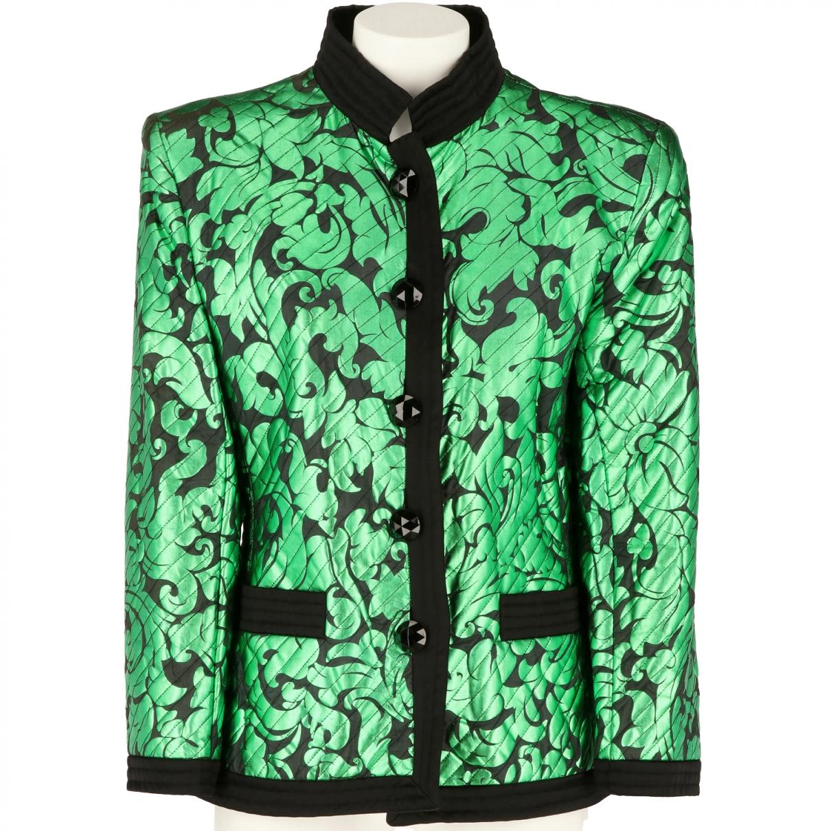 Yves Saint Laurent \N Green Silk jacket for Women 44 IT
