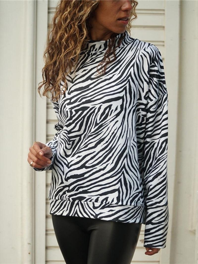 Ericdress Long Sleeve Standard Zebra Stripe Casual Loose T-Shirt