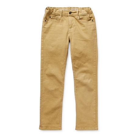 Arizona Little & Big Boys Stretch Slim Fit Jean, 4 , Brown
