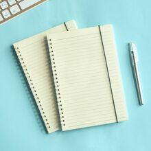 1 Stueck Notizbuch mit transparenter Abdeckung