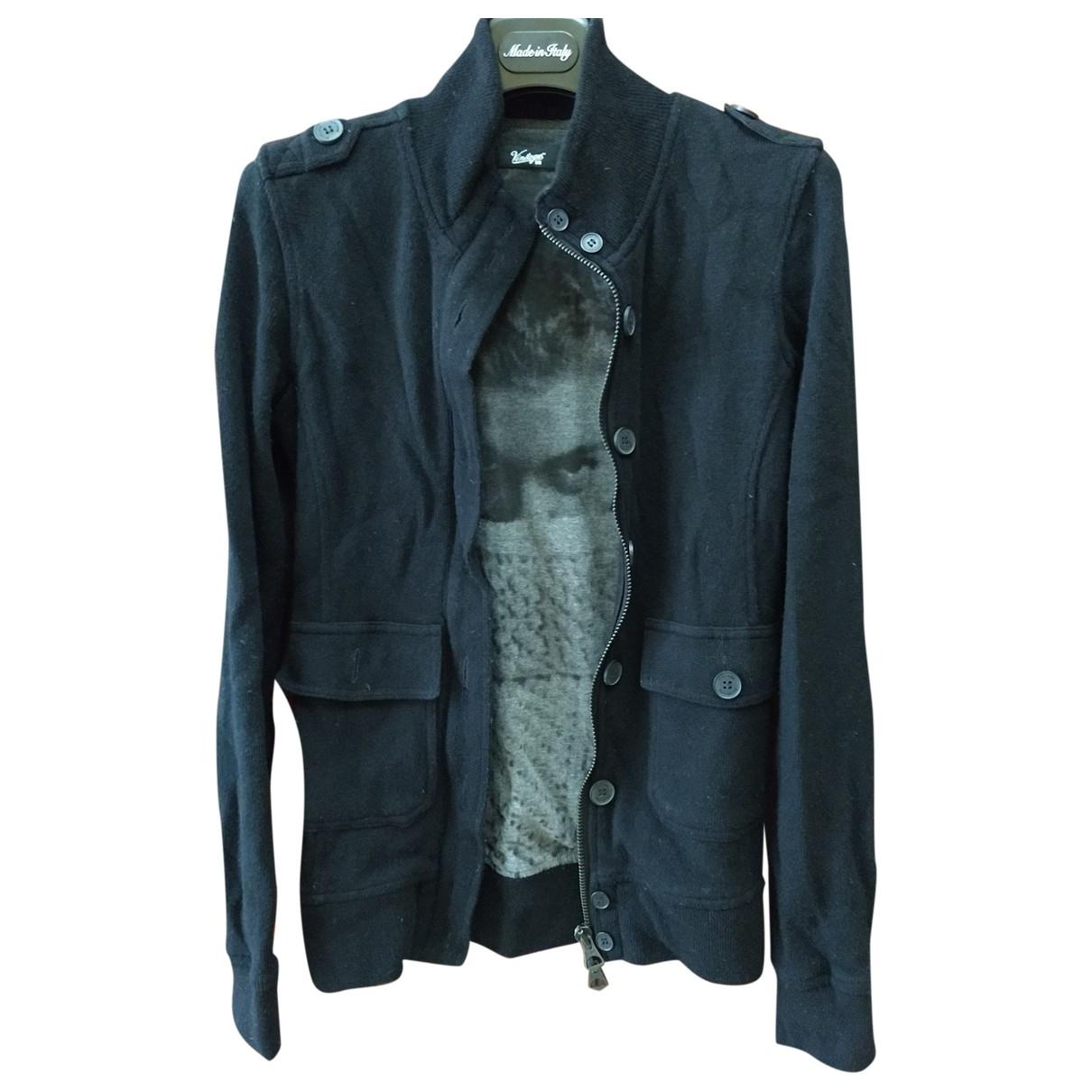 Vintage 55 \N Pullover.Westen.Sweatshirts  in  Schwarz Wolle