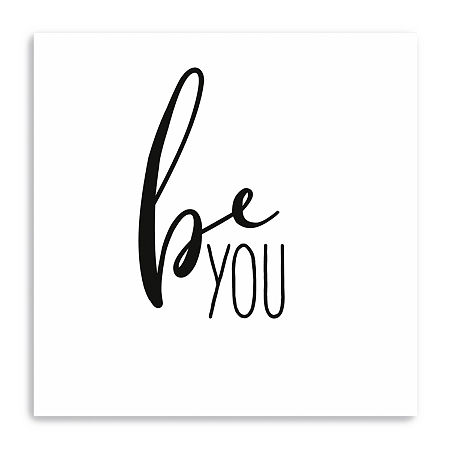 Be You Giclee Canvas Art, One Size , Black