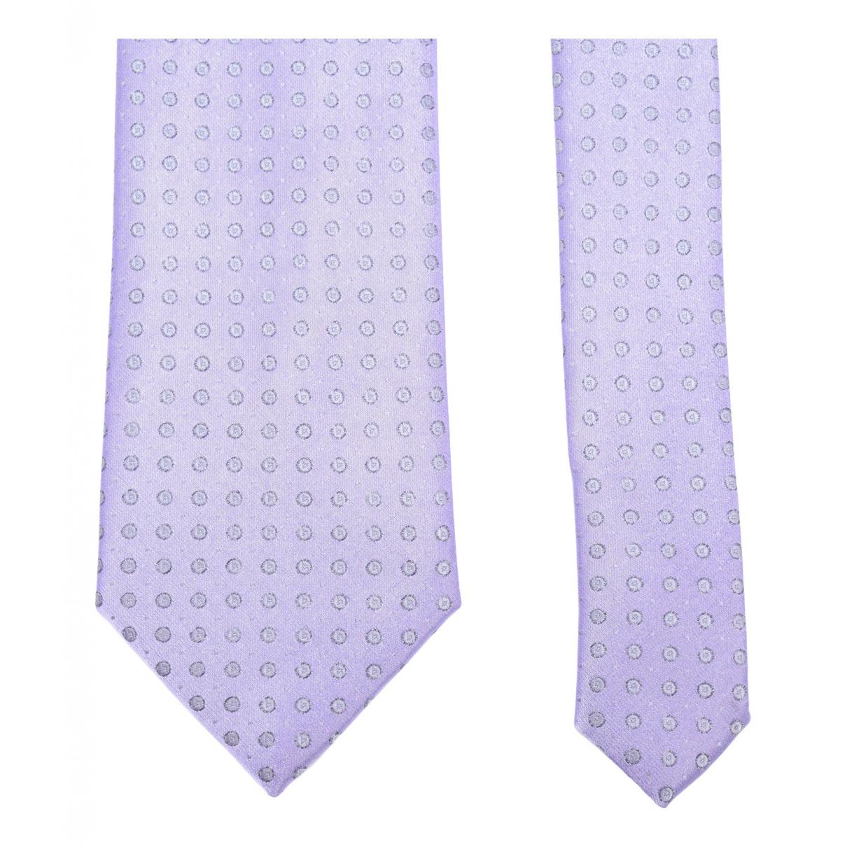 Lanvin - Cravates   pour homme en soie - violet