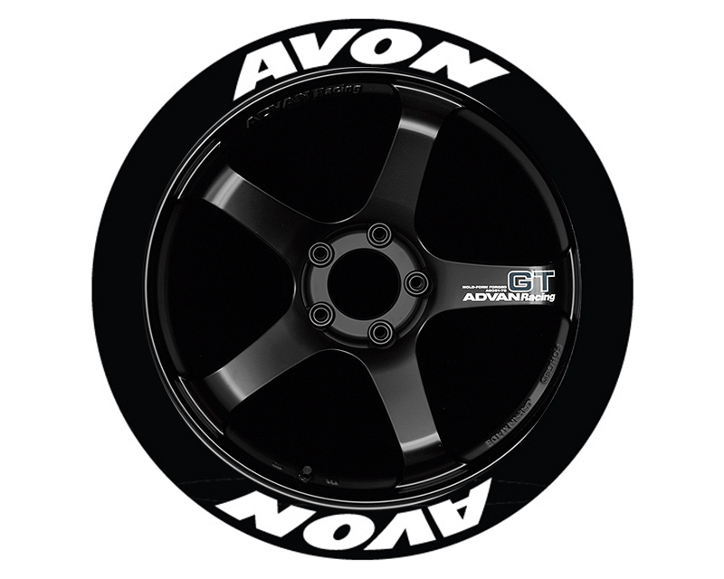 Tire Stickers AVO-1921-125-8-G Permanent Raised Rubber Lettering 'Avon' - 8 Of Each - 19