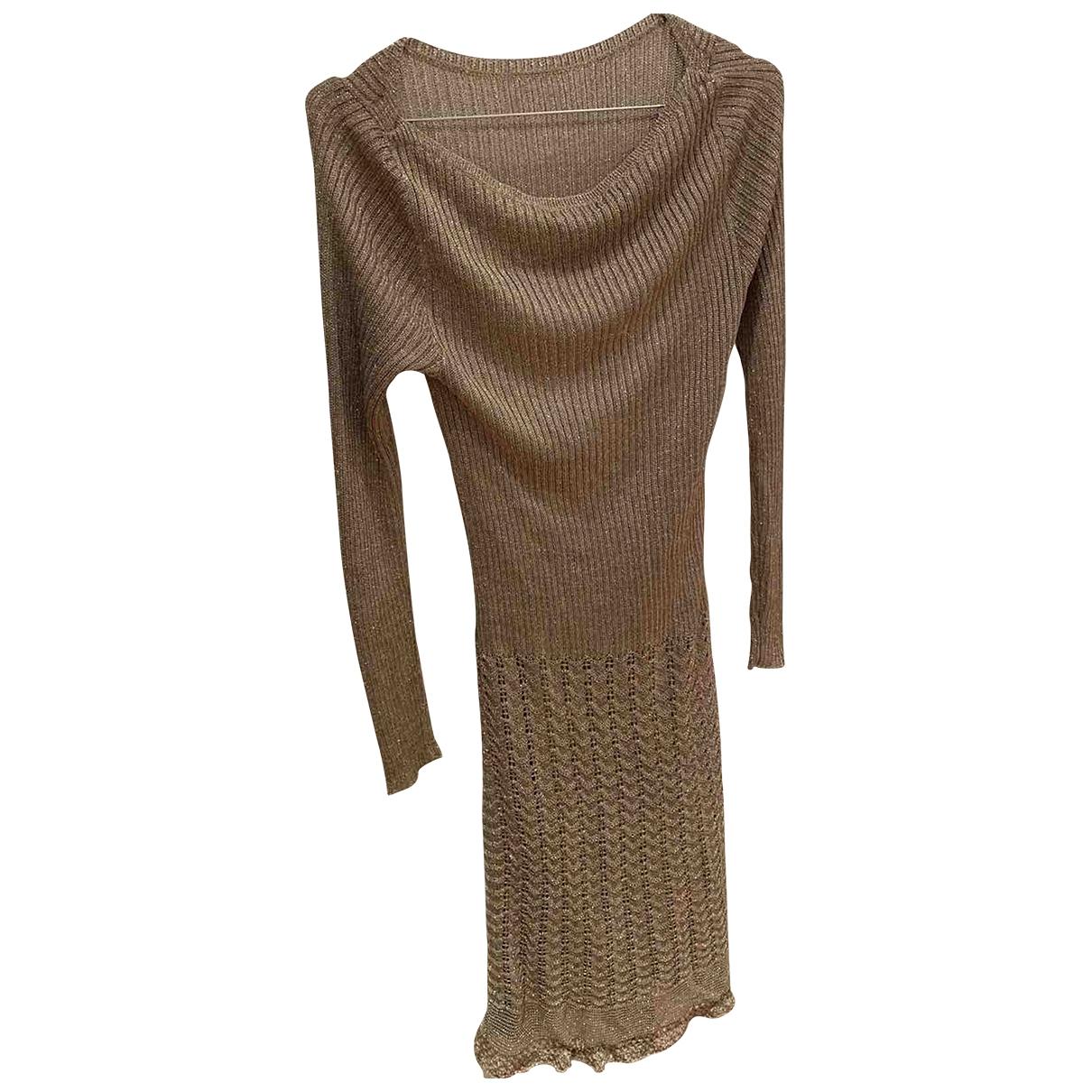 Lauren Ralph Lauren \N Kleid in  Gold Baumwolle