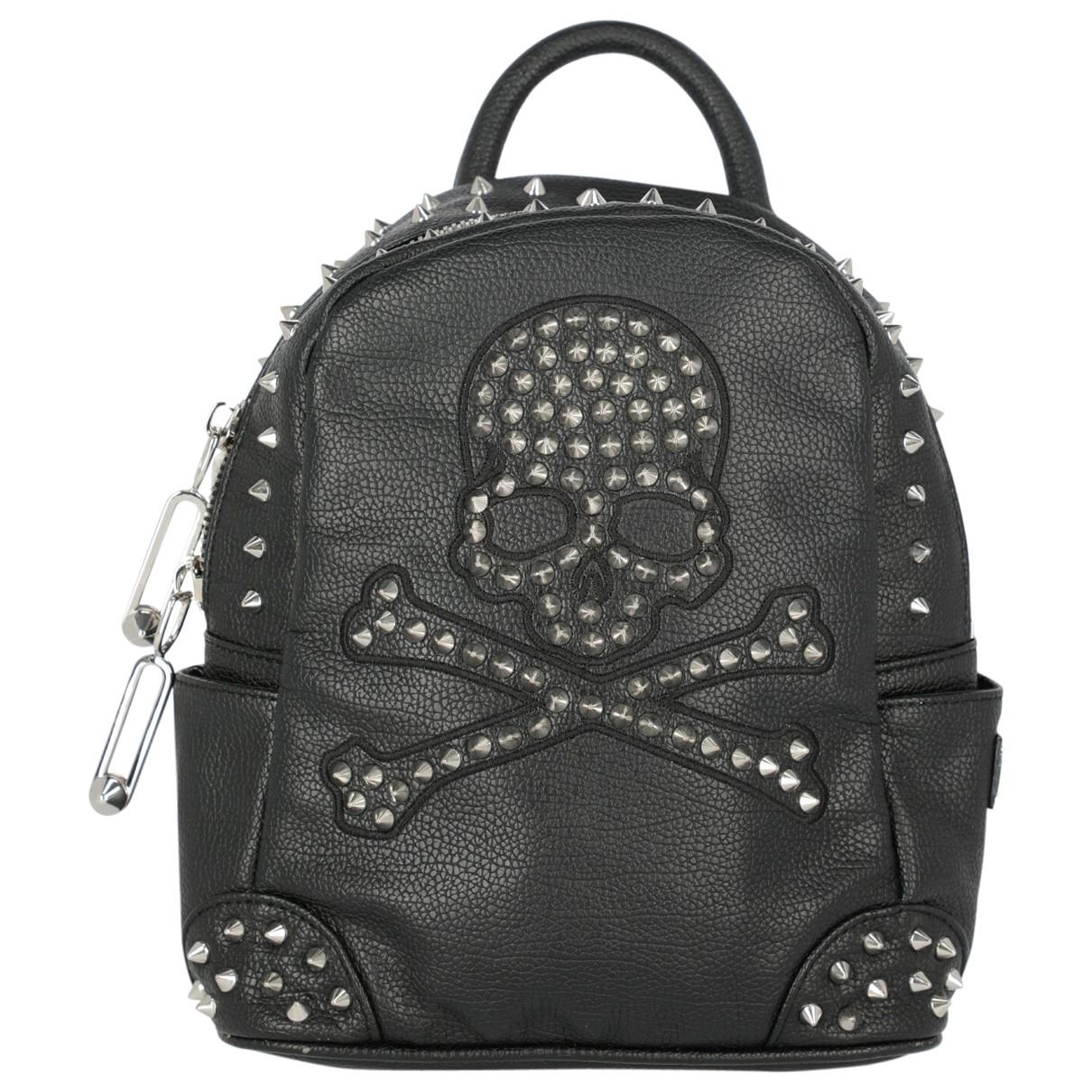 Philipp Plein \N Black Leather backpack for Women \N