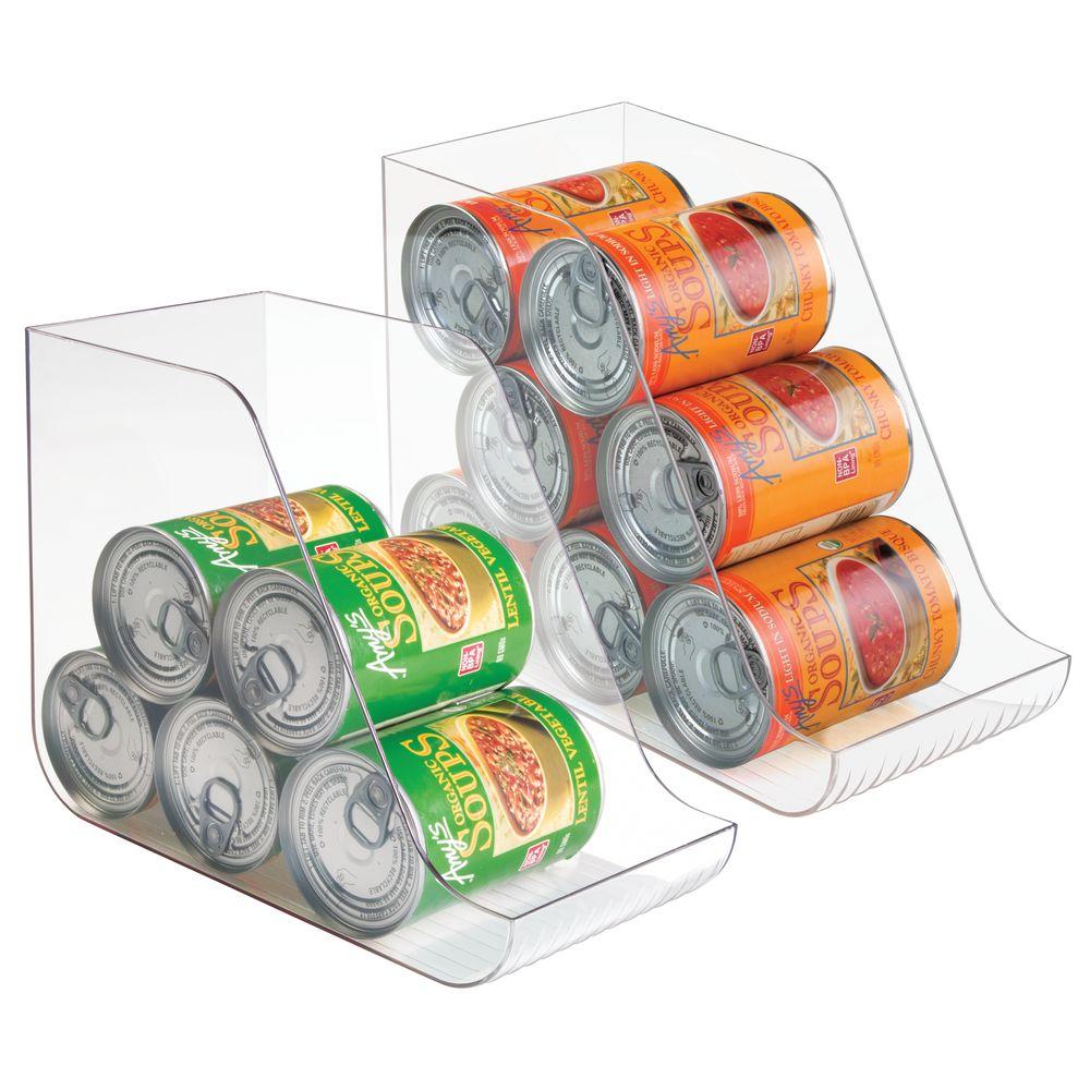 mDesign Plastic Canned Food Dispenser Pantry Organizer - 11