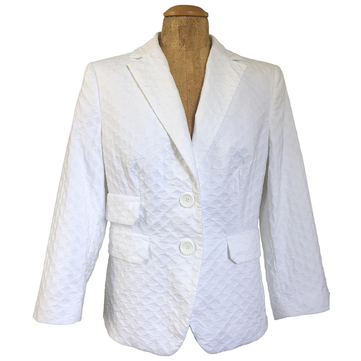 Peserico - Veste   pour femme en coton - blanc