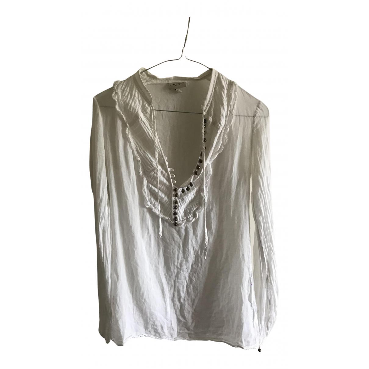 Karen Millen - Top   pour femme en coton - blanc