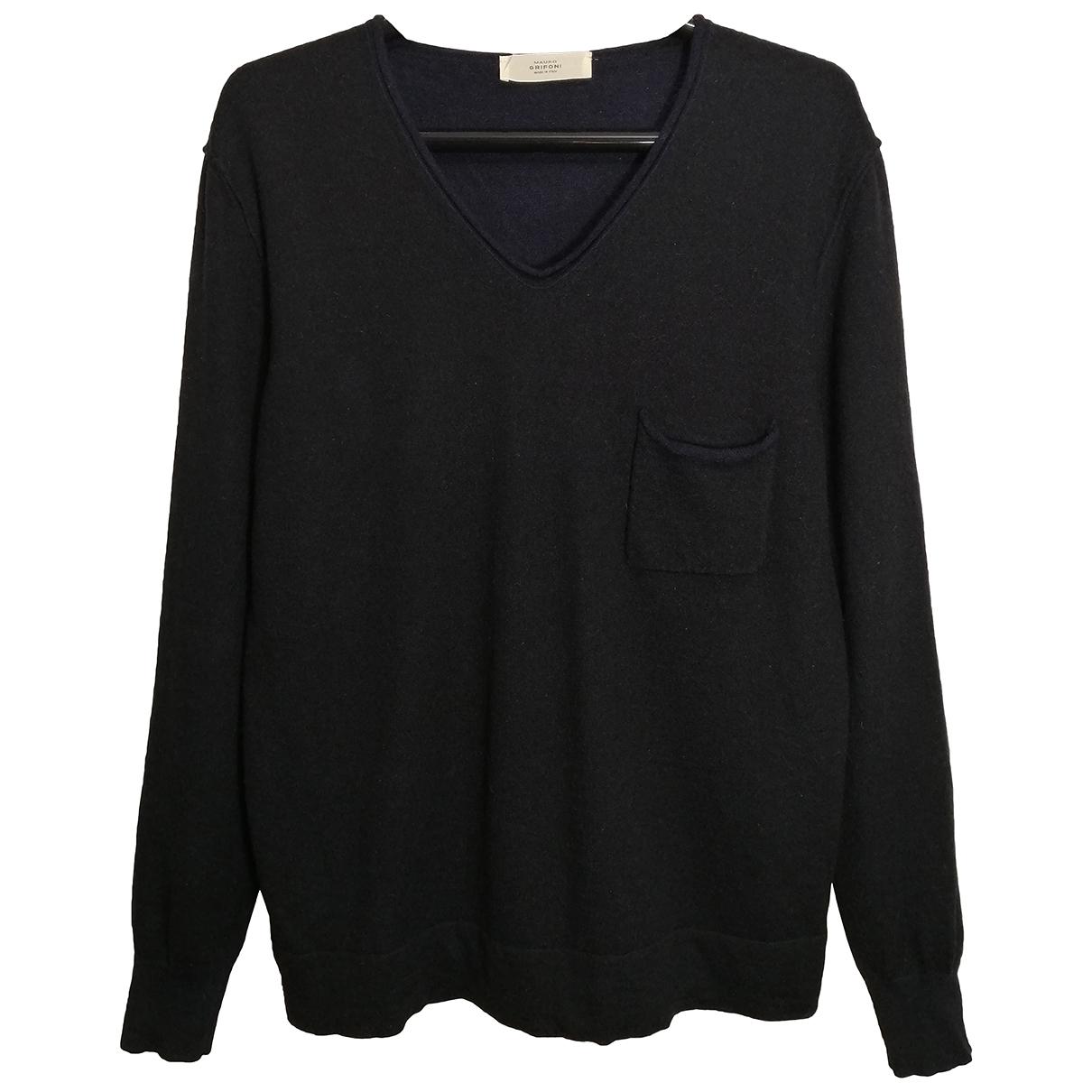 Mauro Grifoni N Black Wool Knitwear & Sweatshirts for Men 52 IT