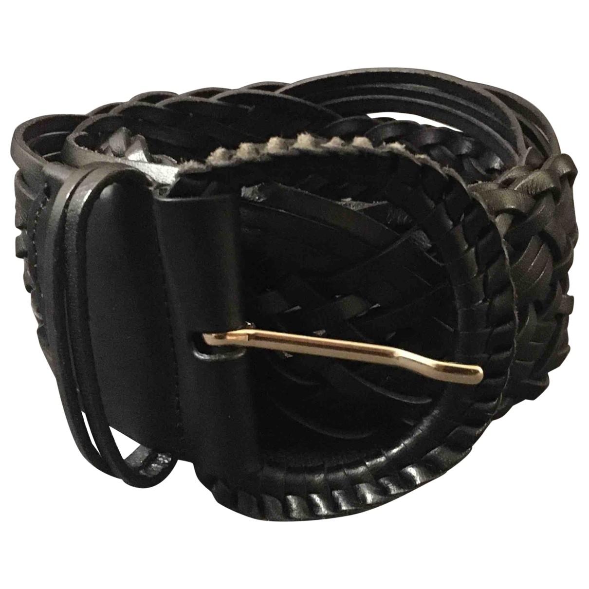 Sézane \N Black Leather belt for Women 80 cm