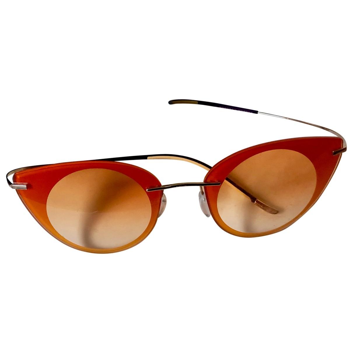 Non Signe / Unsigned \N Sonnenbrillen in  Orange Metall