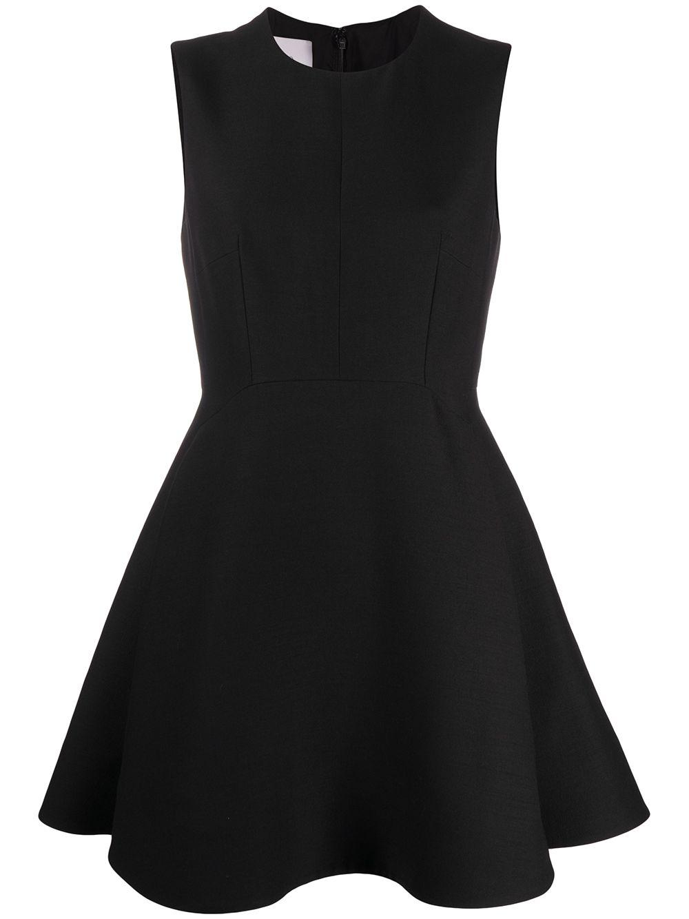 Wool-blend Sleeveless Flared Dress