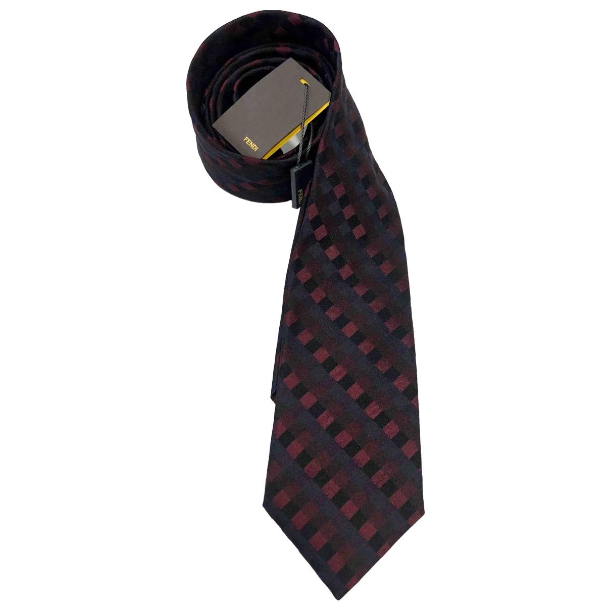 Fendi - Cravates   pour homme en soie - multicolore