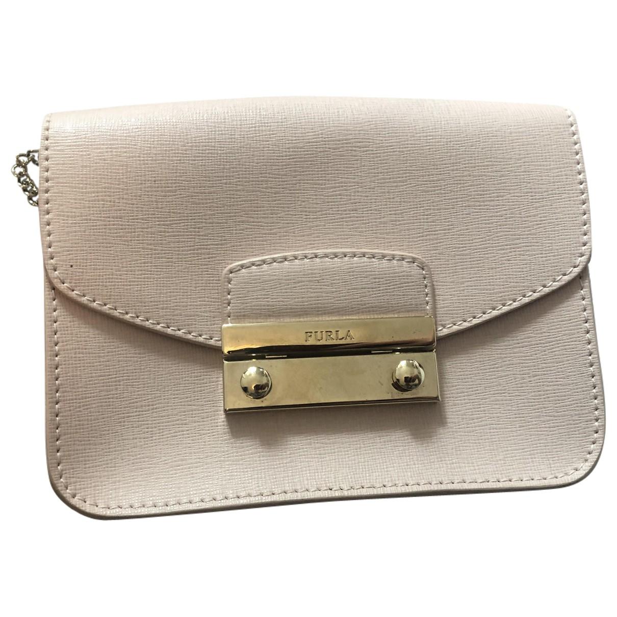 Furla Metropolis Handtasche in  Rosa Leder