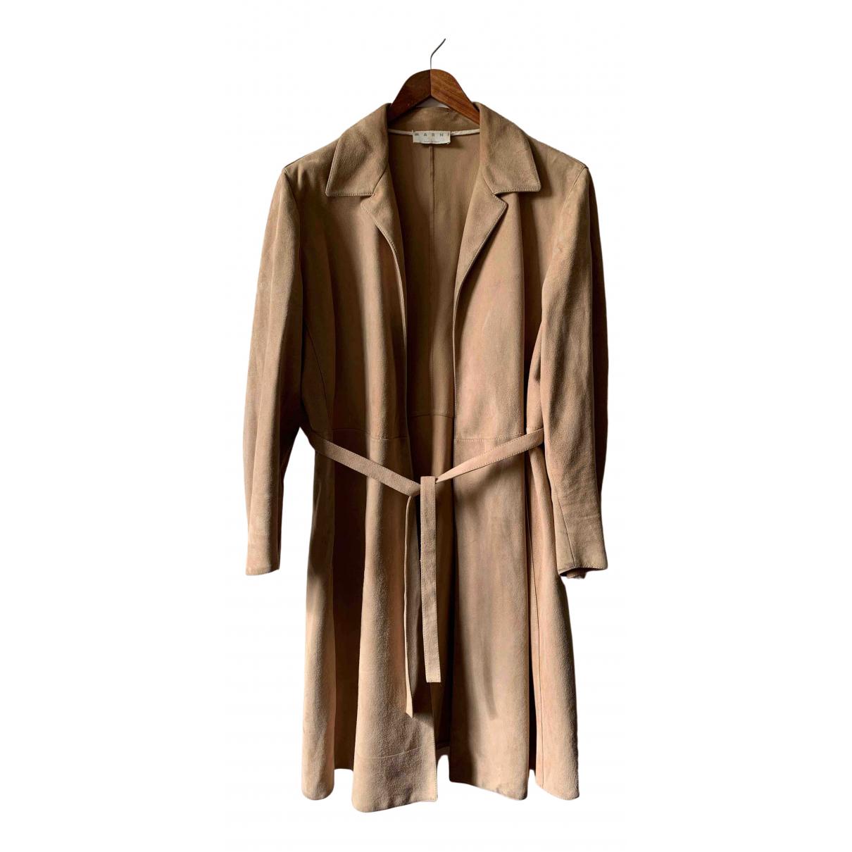 Marni \N Beige Suede coat for Women 44 IT