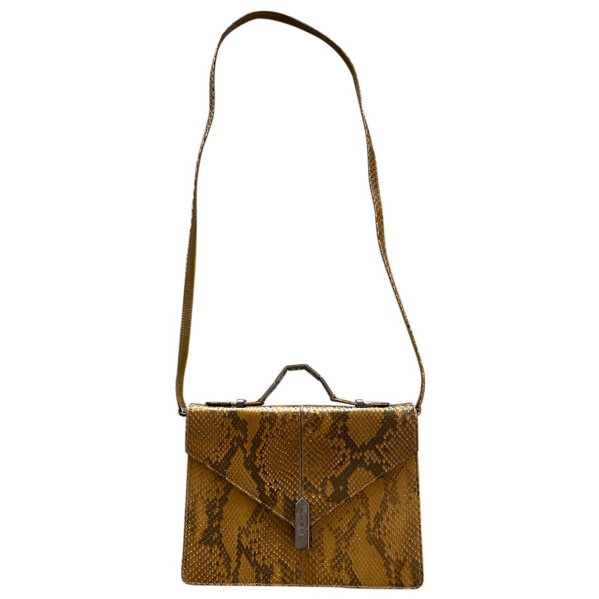 Fendi N Brown Python handbag for Women N