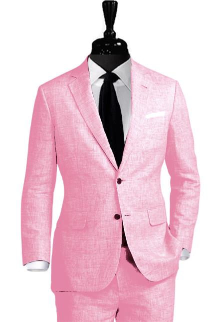 Alberto Nardoni Linen 2 Button Coming September/1/2017 Suit
